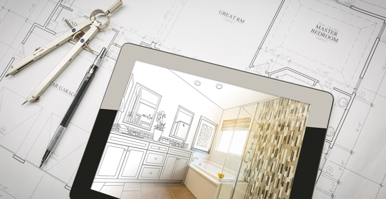 Badkamer indeling: maak een schets