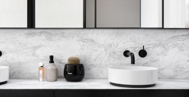 Tegels badkamer: marmer